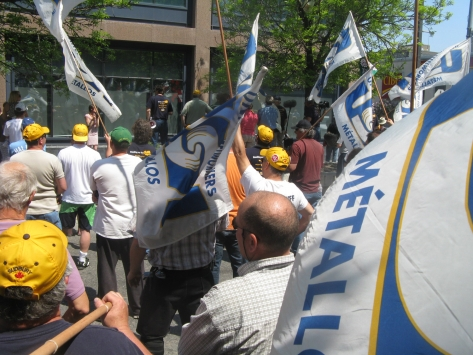 Steelworkers rally in Sudbury